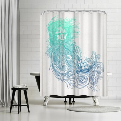 David Fleck Sea Beard Shower Curtain