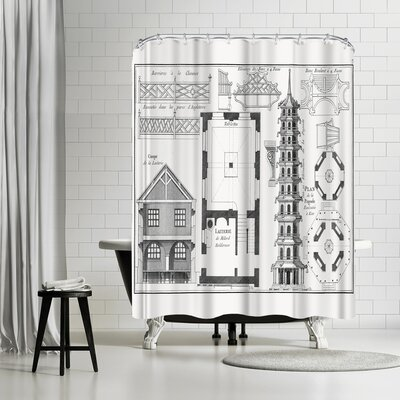New York Botanical Garden Plan Delapagode Shower Curtain