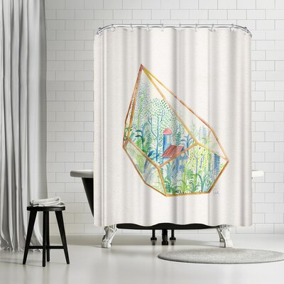 David Fleck Terrarium Shower Curtain