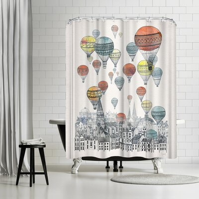 David Fleck Voyages Over Edinburgh Shower Curtain