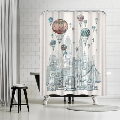 David Fleck Voyages Over New York Shower Curtain