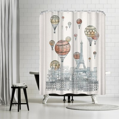 David Fleck Voyages Over Paris Shower Curtain