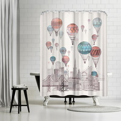 David Fleck Voyages Over San Francisco Shower Curtain