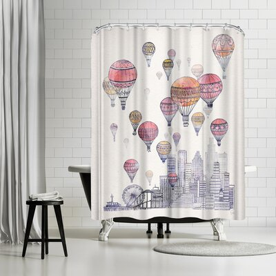 David Fleck Voyages Over Santa Monica Shower Curtain