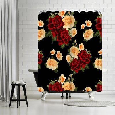 New York Botanical Garden Rose Shower Curtain