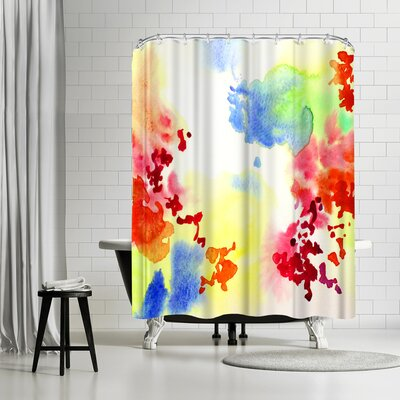 New York Botanical Garden Watercolor Abstract Blooms Shower Curtain