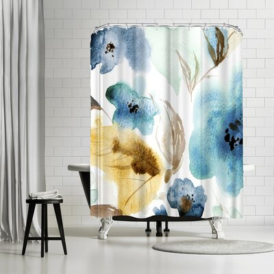 New York Botanical Garden Watercolor Shower Curtain
