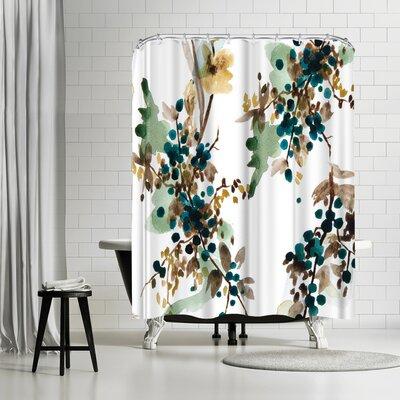 New York Botanical Garden Watercolor Shower Curtain
