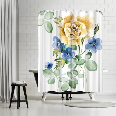 New York Botanical Garden Watercolor Rose Shower Curtain