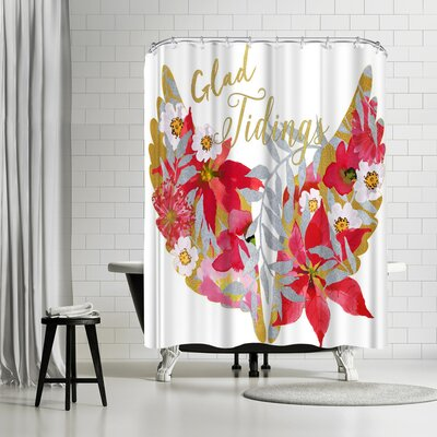 Edith Jackson Garden Glad Tidings Shower Curtain