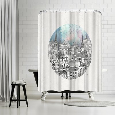David Fleck This Dear City Shower Curtain