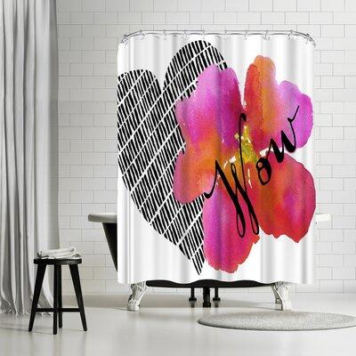 Edith Jackson Wow Shower Curtain
