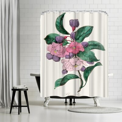 New York Botanical Garden American Flora Chinese Pear Shower Curtain