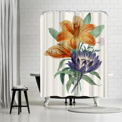 New York Botanical Garden American Flora Lilium Shower Curtain