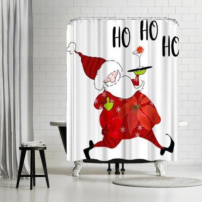 Edith Jackson HO HO HO Shower Curtain