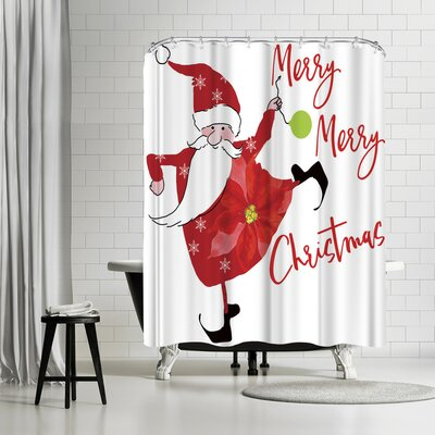 Edith Jackson Merry Merry Shower Curtain