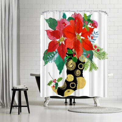 Edith Jackson Christmas Stocking Shower Curtain