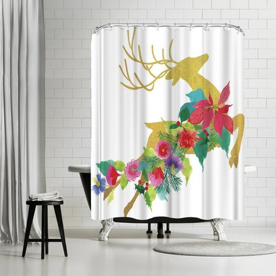 Edith Jackson Blitzen Shower Curtain