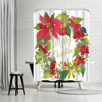 Edith Jackson Wreath Shower Curtain