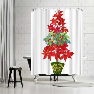 Edith Jackson Holiday Tree Shower Curtain