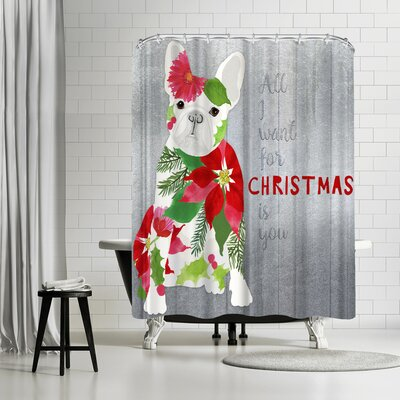 Edith Jackson AllI Want For Christmas Shower Curtain