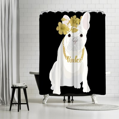 Edith Jackson Ruler Shower Curtain