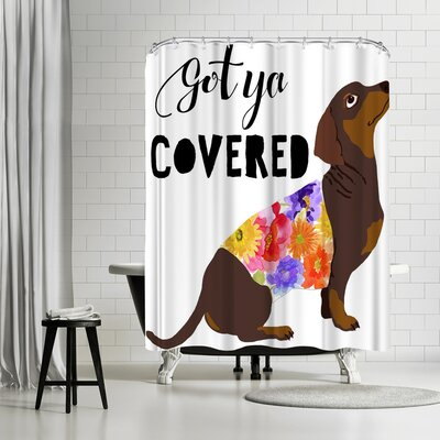 Edith Jackson Got Ya Covered Shower Curtain
