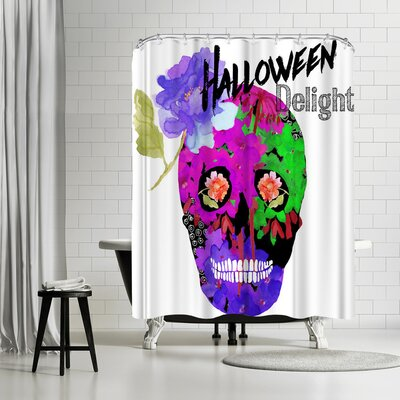 Edith Jackson Halloween Delight Shower Curtain
