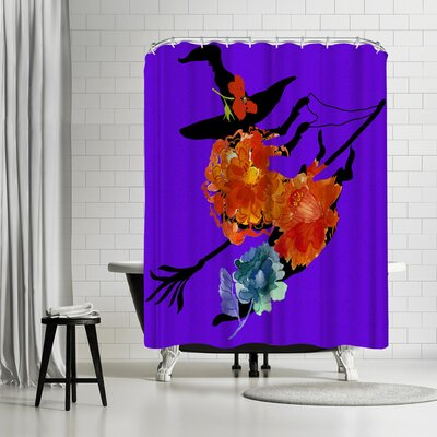 Edith Jackson Ride in a Sky Shower Curtain