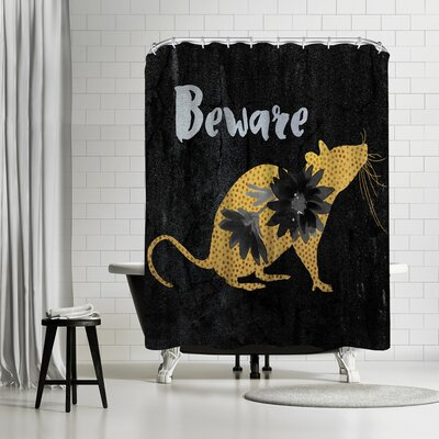 Edith Jackson Beware Shower Curtain