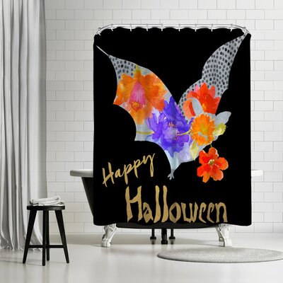 Edith Jackson Bat Shower Curtain