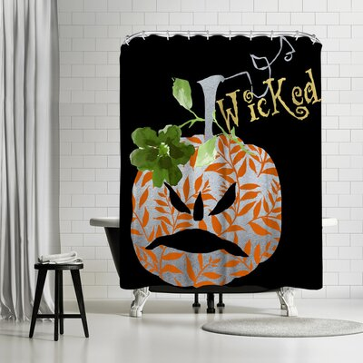 Edith Jackson Wicked Grouch Shower Curtain