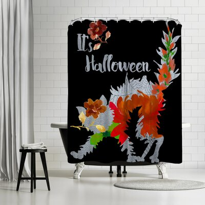 Edith Jackson Cat Shower Curtain
