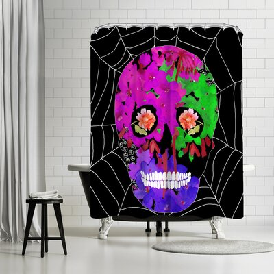Edith Jackson The Web Shower Curtain