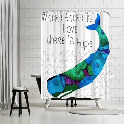 Edith Jackson Love and Hope Shower Curtain