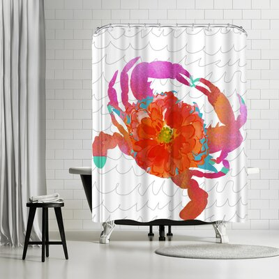 Edith Jackson Scarlet Crustation Shower Curtain