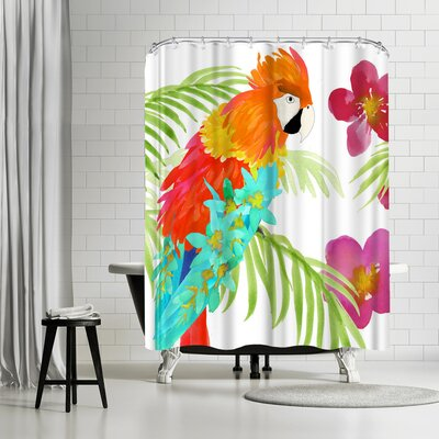 Edith Jackson Flower Jungle Shower Curtain
