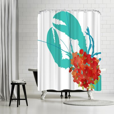 Edith Jackson Coastal Geranium Shower Curtain