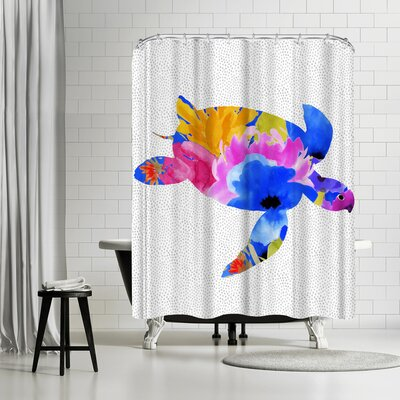 Edith Jackson Turtle Shower Curtain