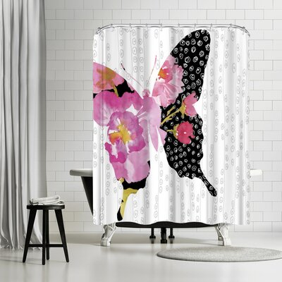 Edith Jackson Flutter in Pink Shower Curtain
