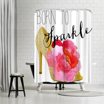 Edith Jackson Born to Sparkle Shower Curtain