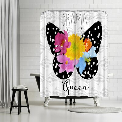 Edith Jackson Drama Queen Shower Curtain