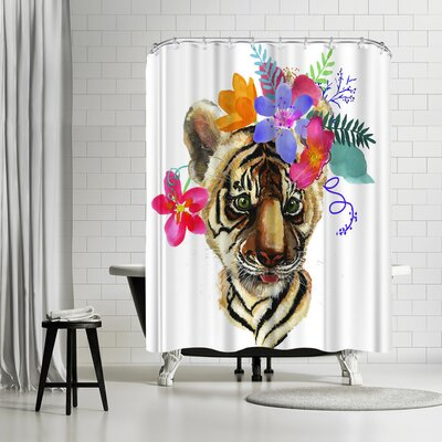 Edith Jackson Tiger Shower Curtain