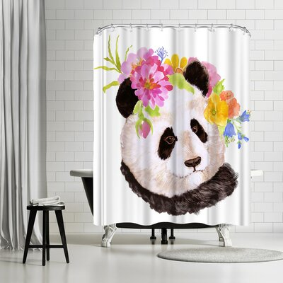 Edith Jackson Panda Shower Curtain