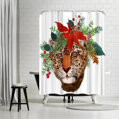 Edith Jackson Jaguar Shower Curtain