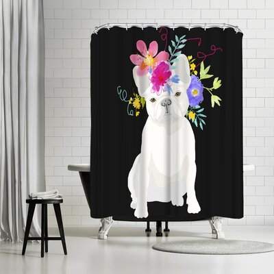 Edith Jackson White Dog Shower Curtain