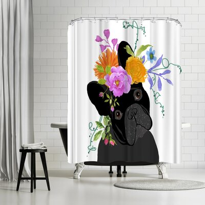 Edith Jackson Black Dog Shower Curtain