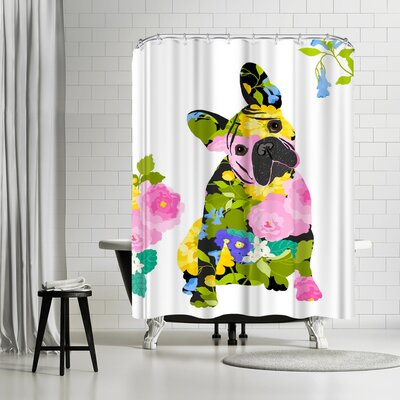 Edith Jackson Bull Dog Shower Curtain