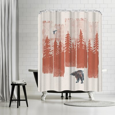 NDTank A Bear in the Wild Shower Curtain