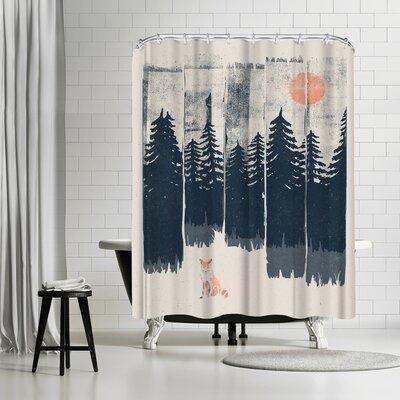 NDTank a Fox in the Wild Shower Curtain
